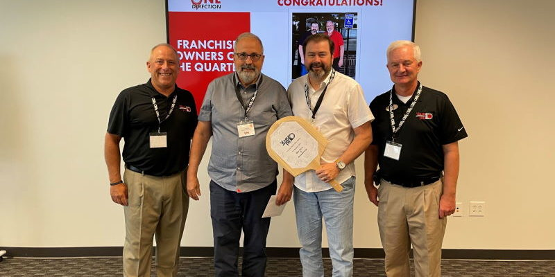 Dan Sacco and Doug Ormsby Franchise Owners of the Quarter for Q1 of 2021.